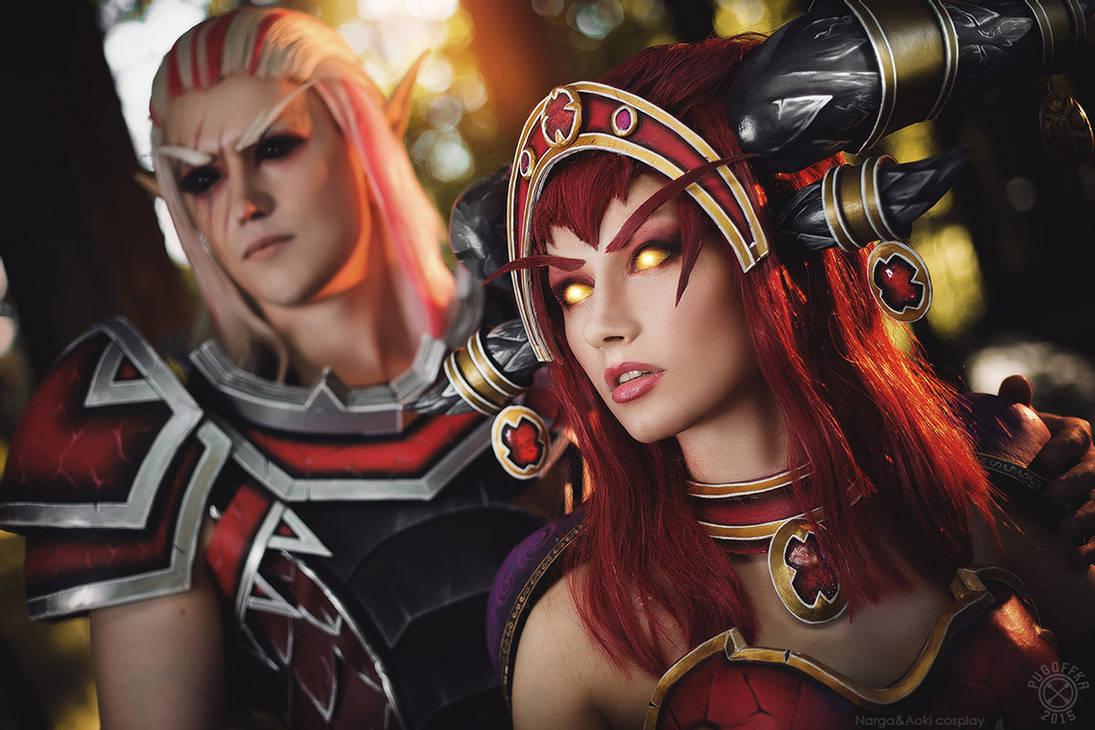Alexstrasza And Krasus Red Dragon