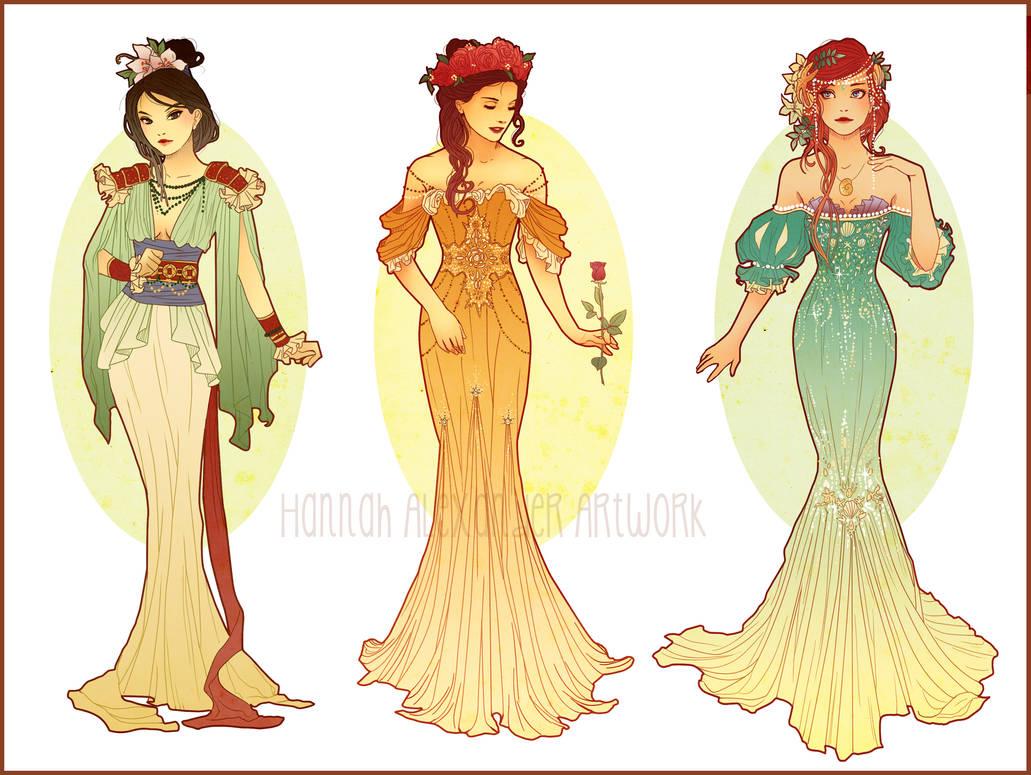 Art Nouveau Costume Designs