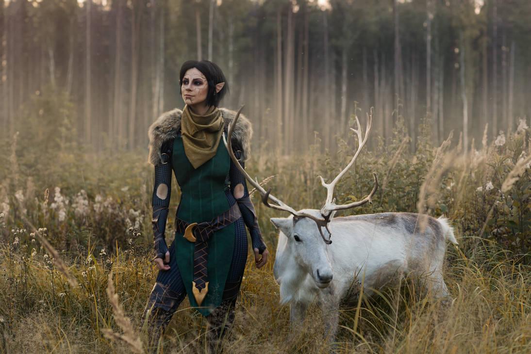 Merrill With Reindeer 2 Dragon Age Ii Cosp