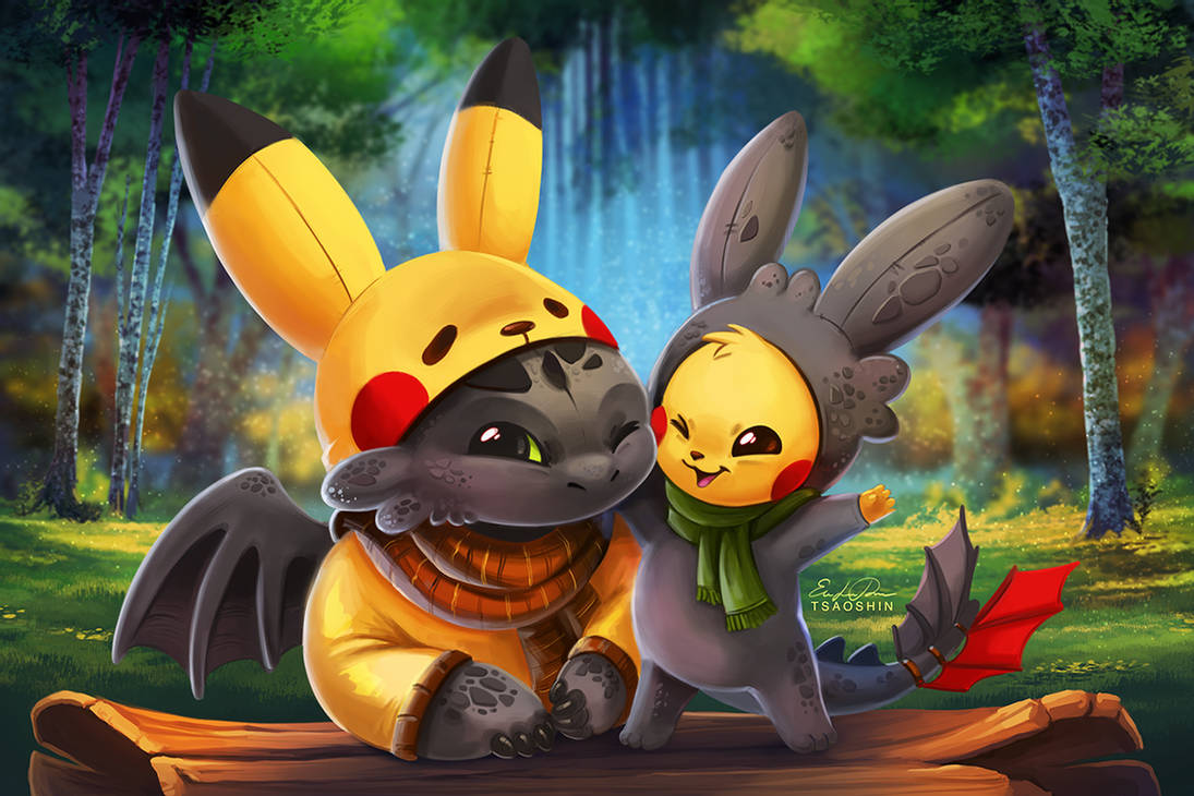 Pikachu And Toothles