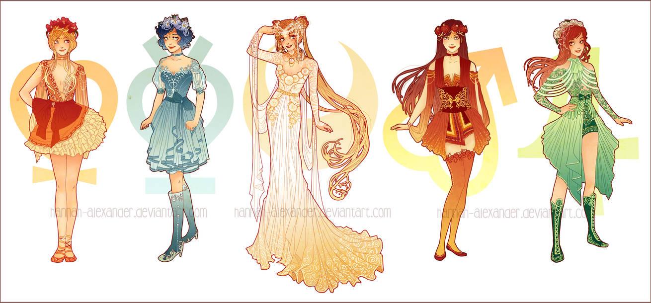 Sailor Moon Art Nouveau Costume Design