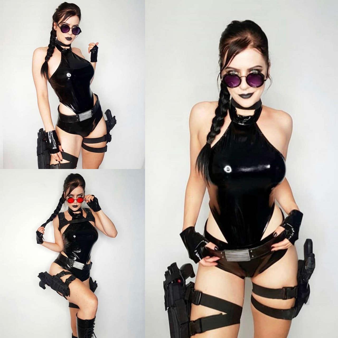 Latex Lara Croft By Purplemuffin